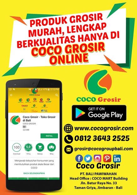Coco Grosir Online, COCO GROUP BALI, COCO SUPERMARKET BALI, COCO EXPRESS BALI, COCO MART BALI, RETAIL BALI, COCO GOURMET BALI, COCO GROSIR BALI, COCO ROTI BALI, RETAIL MURAH BALI, COCO DEWATA TANAH LOT BALI