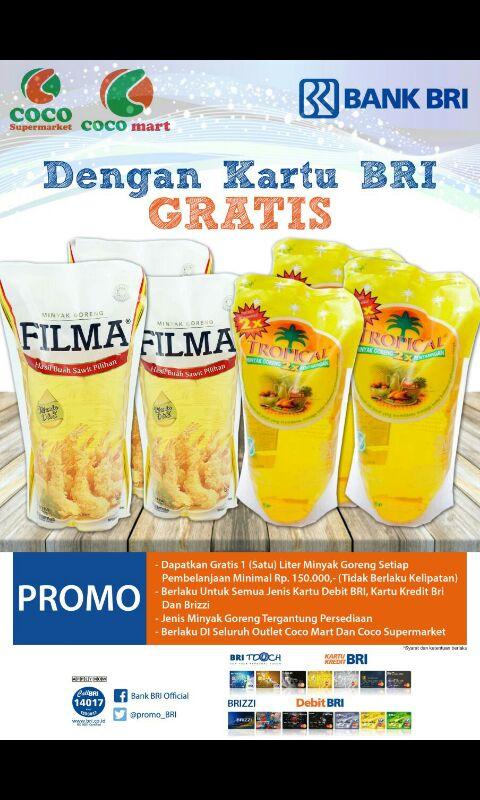 Promo BRI COCO Group Bali COCO GROUP BALI, COCO SUPERMARKET BALI, COCO EXPRESS BALI, COCO MART BALI, RETAIL BALI, COCO GOURMET BALI, COCO GROSIR BALI, COCO ROTI BALI, RETAIL MURAH BALI