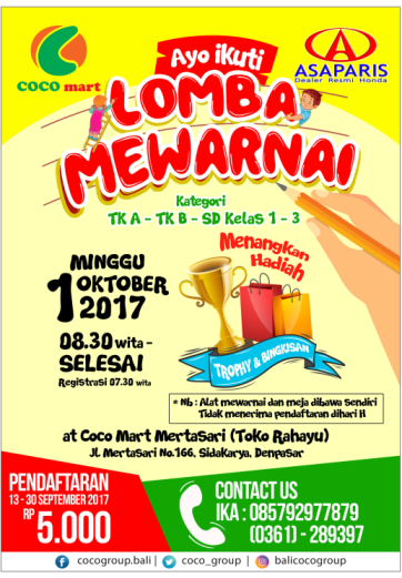 LOMBA MEWARNAI – COCO MART – COCO SUPERMARKET – RETAIL BALI
