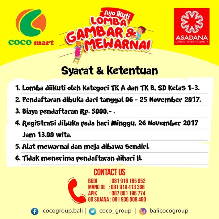 Retail Bali, coco mart, coco express, coco supermarket
