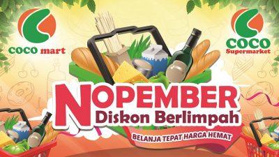 Promo Nopember 2018, COCO GROUP BALI, COCO SUPERMARKET BALI, COCO EXPRESS BALI, COCO MART BALI, RETAIL BALI, COCO GOURMET BALI, COCO GROSIR BALI, COCO ROTI BALI, RETAIL MURAH BALI, COCO DEWATA TANAH LOT BALI