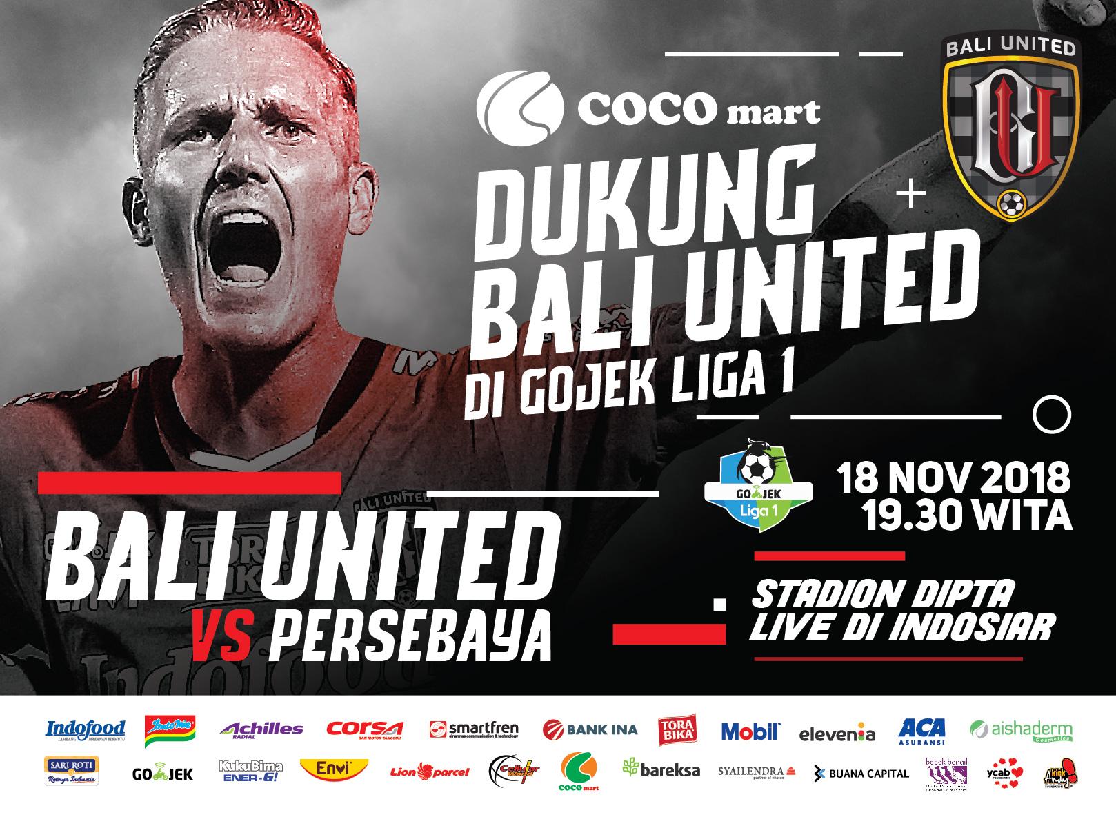 Bali United vs Persebaya 18 November 2018, COCO GROUP BALI, COCO SUPERMARKET BALI, COCO EXPRESS BALI, COCO MART BALI, RETAIL BALI, COCO GOURMET BALI, COCO GROSIR BALI, COCO ROTI BALI, RETAIL MURAH BALI, COCO DEWATA TANAH LOT BALI