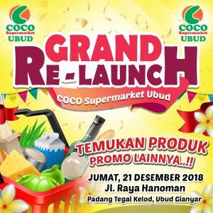 Grand Re - Launch CSM Ubud, COCO GROUP BALI, COCO SUPERMARKET BALI, COCO EXPRESS BALI, COCO MART BALI, RETAIL BALI, COCO GOURMET BALI, COCO GROSIR BALI, COCO ROTI BALI, RETAIL MURAH BALI, COCO DEWATA TANAH LOT BALI